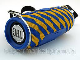 JBL Charge 3 Zap mini A+ в стиле xtreme, портативная колонка с Bluetooth FM MP3, желтая с синим, фото 3
