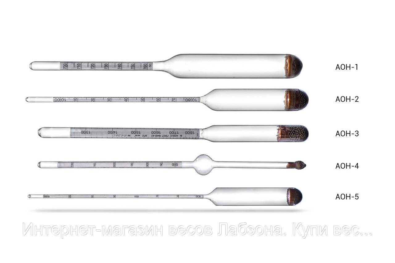 Ареометр общего назначения АОН. Измерение плотности