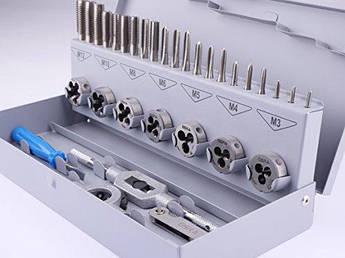 00708070 Набір ручних мітчиків і плашок 25х9 M3-M12 HSS-G 32 предмета GSR Німеччина