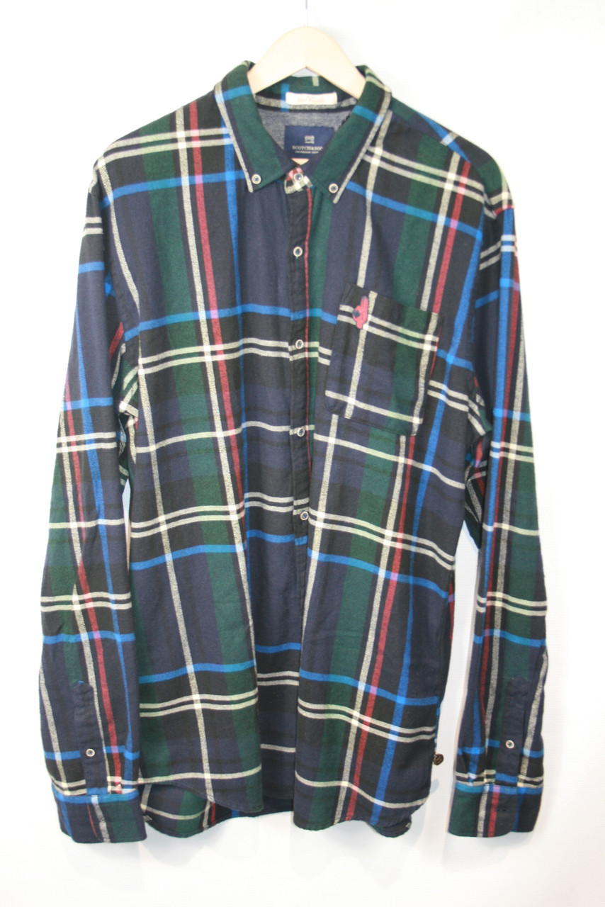 Рубашка мужская Scotch & Soda цвет темно-синий размер XXL арт 101420-16-FWMM-D20