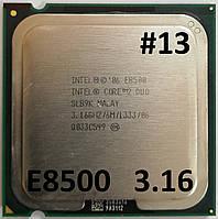 Процессор ЛОТ #13 Intel Core 2 Duo E8500 E0 SLB9K 3.16 GHz 6 MB Cache 1333 MHz FSB Socket 775 Б/У, фото 1