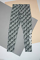 Леггенсы Adidas цвет серо-черный размер S арт CE8885