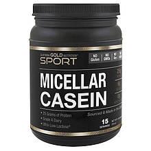 """Мицеллярный казеин California GOLD Nutrition, SPORT """"Micellar Casein"""" протеин в порошке, 15 порций (454 г)"""
