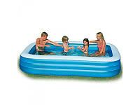 Семейный бассейн Intex 58484 прямоугольный, 3 кольца, 999 литров, 305-183-56 см