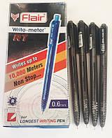 """Ручка Flair 10км автомат """"Writo-meter RT"""" шариковая Черная 0,6мм Индия оригинал уп12 бл144"""