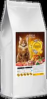 Сухой корм Home Food для взрослых кошек крупных пород индейка с креветкой 10 кг