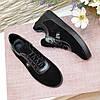 Кроссовки женские комбинированные на утолщенной подошве, цвет черный, фото 4