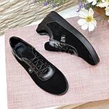 Кросівки жіночі об'єднані на товстій підошві, колір чорний, фото 4