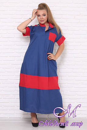 Длинное летнее платье батальных размеров (р. 42-90) арт. Джессика, фото 2