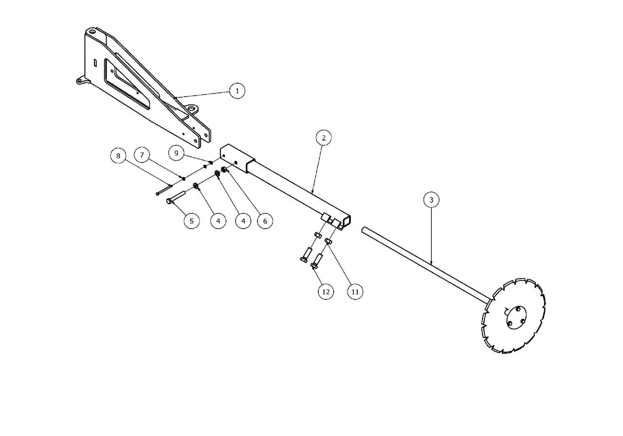 Маркер лівий борони ANT30 AGRO-MASZ