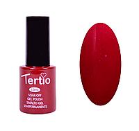 Гель-лак Tertio Темно-красный с розовым микроблеском №092 10 мл