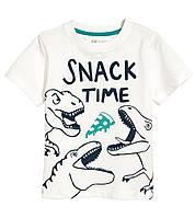 """Белая футболка """"Snack time"""", H&M, 0594581032"""