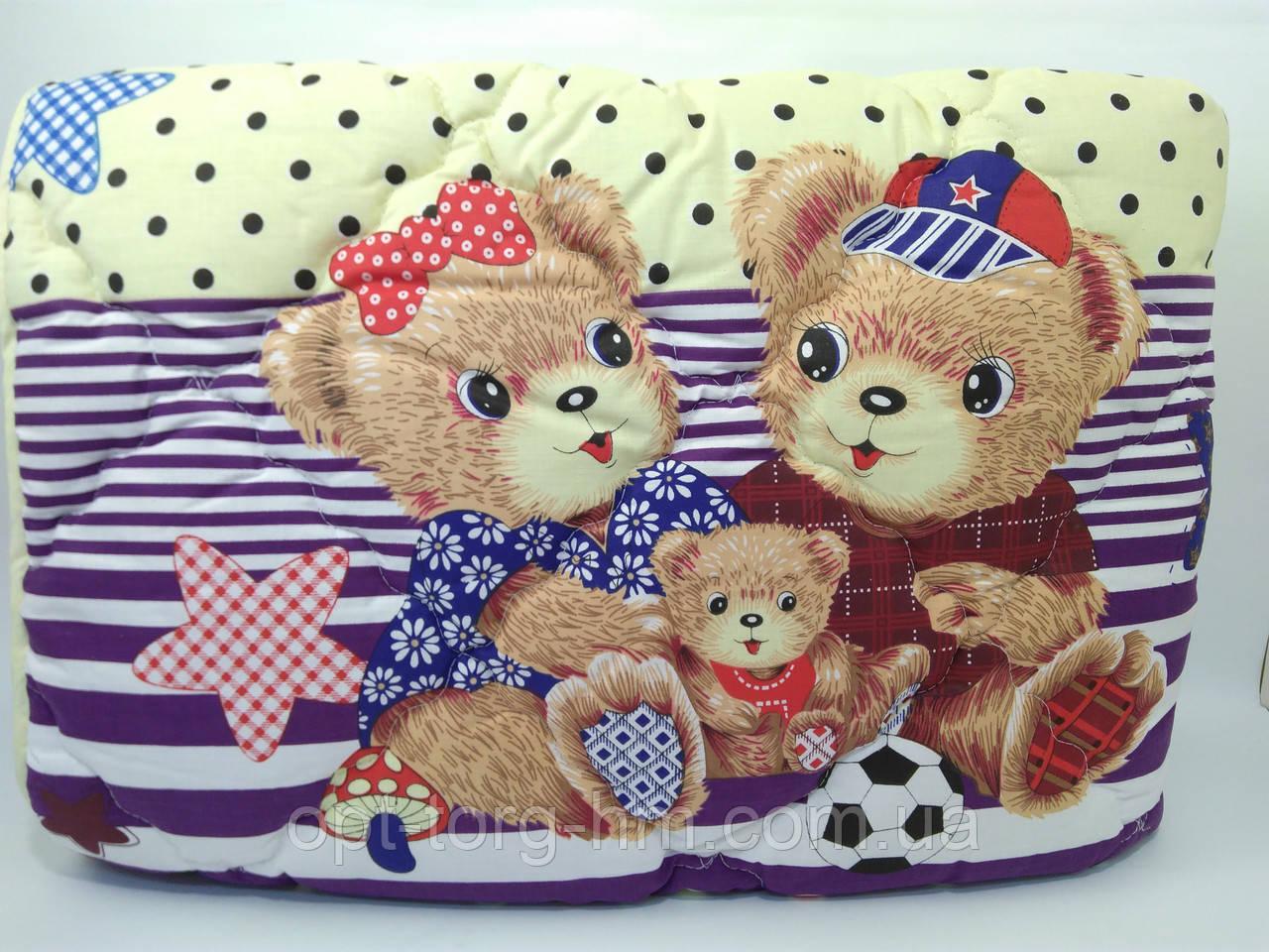 Детское Шерстяное одеяло 110*140 с подушкой 50*50 ОДА