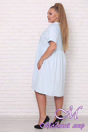 Летнее батальное платье из льна (р. 42-90) арт. Легкость, фото 2