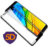 Стекло Full Glue 5D Xiaomi Redmi 5, Black (техпак)