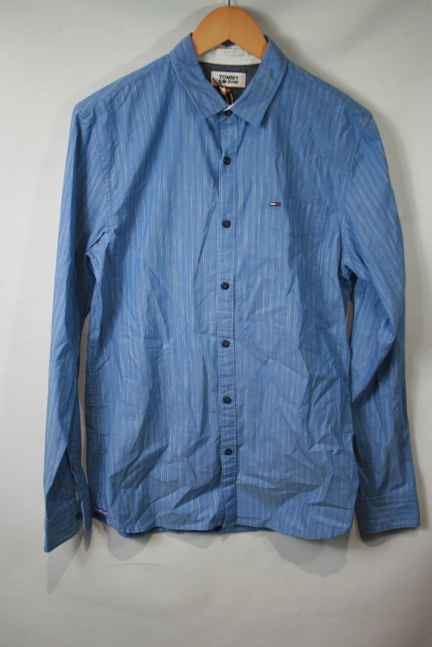 Рубашка мужская TOMMY HILFIGER цвет темно-голубой размер М арт DM0DM04180407