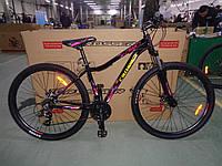 """Горный женский велосипед Crosser Angel 29""""  черно-красный"""