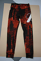 Леггенсы Reebok цвет черно-рыжий размер S арт D96032