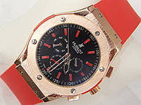 Мужские механические наручные часы Hublot Big Bang, Red, фото 1