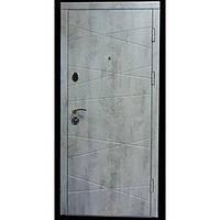 Входные двери,Модель Оптима-Бетон пепельный\белый мат,Форт Нокс