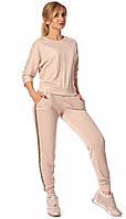 Женский спортивный костюм пудрового цвета. Модель 682. Размеры 42-48