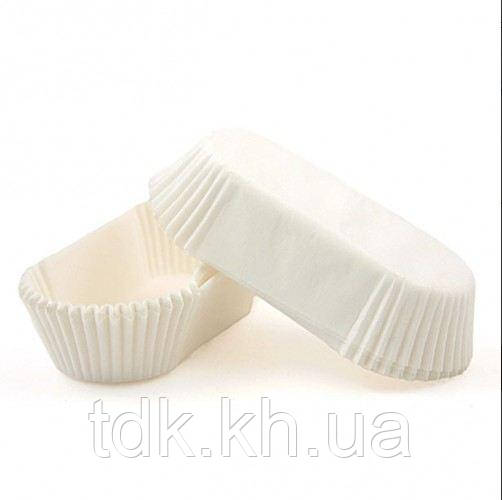 Тарталетка прямоугольная для эклеров, пирожных белая 100х35х30 Р10 50шт