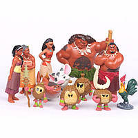 Фигурки героев мультфильма Моана 12 штук, фото 1