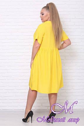 Летнее яркое платье большие размеры (р. 42-90) арт. Легкость, фото 2