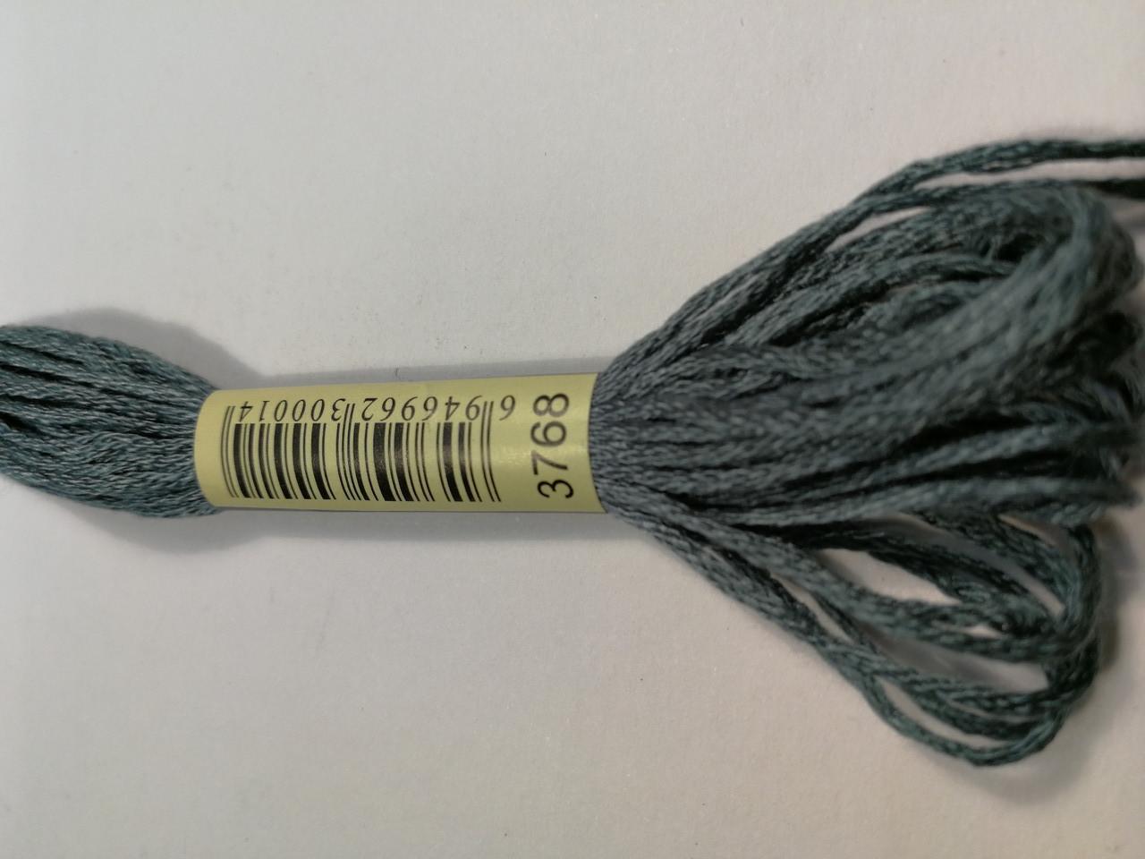 Мулине СХС 3768 серо-зеленый