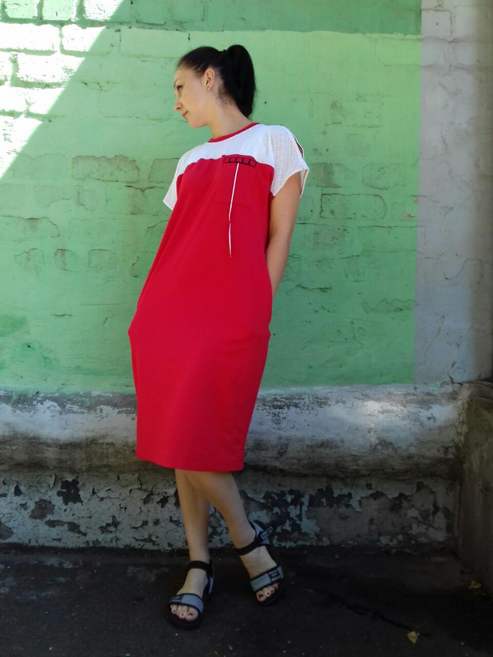 Женское спортивное платье оверсайз