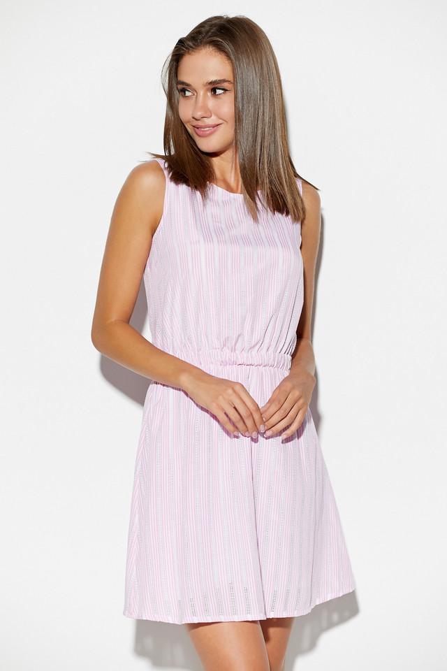Женское летнее платье, розовое, коттон, повседневное, пляжное, мини, короткое