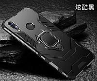 Бронированный чехол IRON MAN с кольцом под магнит для Huawei Honor 8X MAX