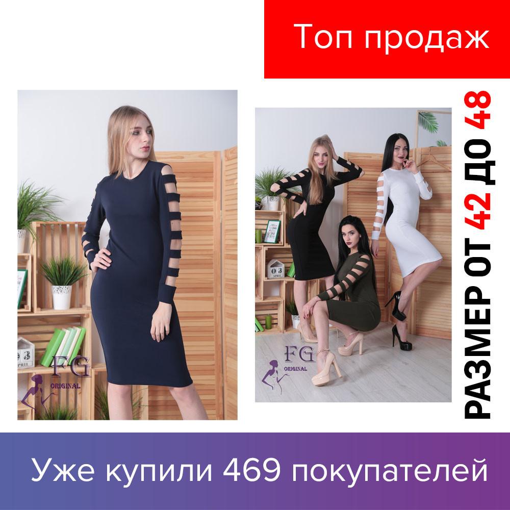 Женское платье, до колен, классическое, оригинальный рукав, чорное, бордовоє, белое, темно-зеленое, 2019