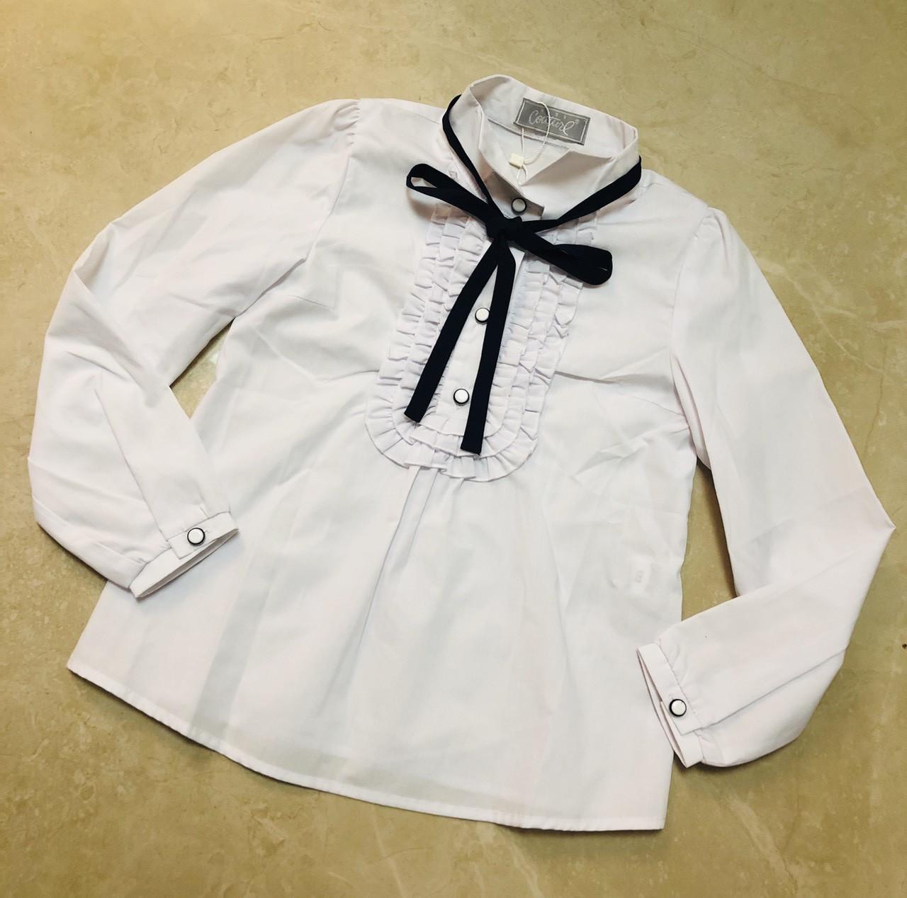 Школьная блузка для девочки р. 122-146