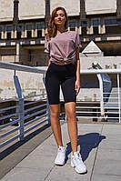 """Модные велосипедки """"Ким"""" черные, фото 1"""