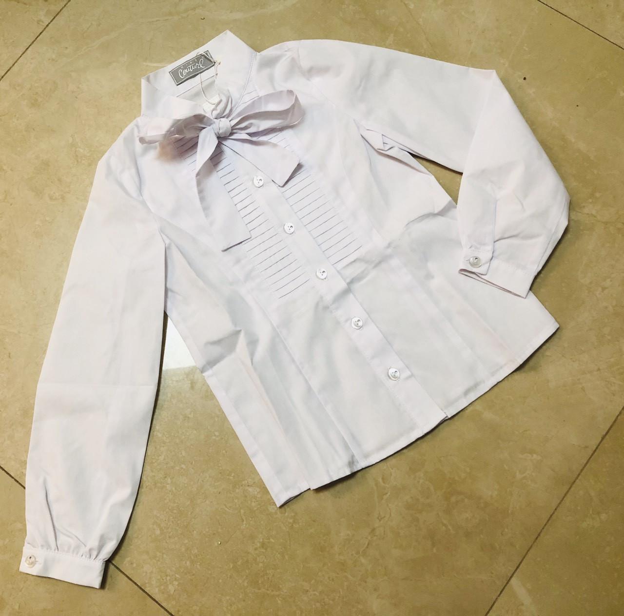 Блузка с длинным рукавом Бант р.122-146