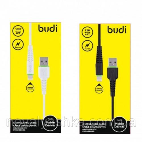USB Кабель Budi Type-C TPE 1.2m, ЮСБ КАБЕЛЬ 1.2м, БЕЛЫЙ