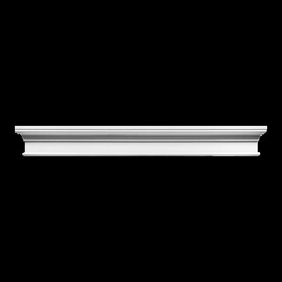 Фронтон Orac Luxxus,D400, 127.5x14.5x5.5см , лепной декор из полиуретана