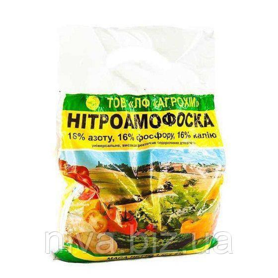 Нітроамофоска добриво для підживлення культур Україна 1 кг