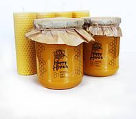 Мёд натуральный, подсолнух с разнотравьем, тм «Happy Hiver» объем 0,5л