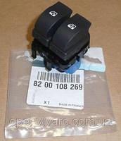 Кнопка стеклоподьёмника передняя левая OPEL VIVARO 00-14 (ОПЕЛЬ ВИВАРО) 8200108269 8200011867, фото 1