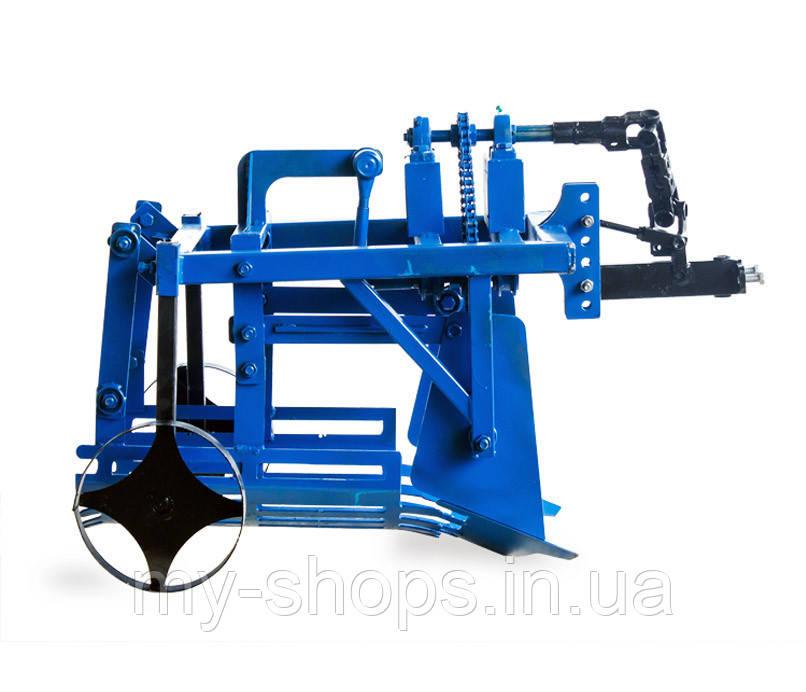 Картофелекопалка механизированная КМ-3 привод-ВОМ (кардан) c ходоуменьшителем