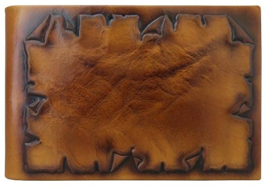 """Візитниця кишенькова шкіряна ручної роботи """"Пергамент"""""""
