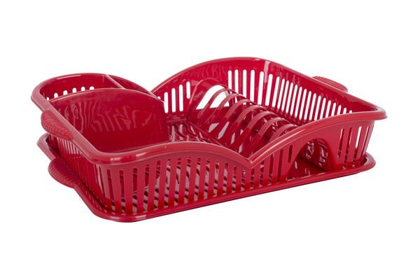 Кух.прибор Qlux Сушилка д/посуды пласт. MIX 45*31*8см  (L-00417)
