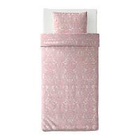 Комплект постельного белья IKEA JÄTTEVALLMO 150х200 см Бело-розовый (304.061.74)