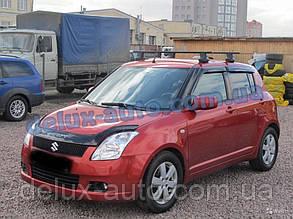 Ветровики Cobra Tuning на авто Suzuki Swift IV Hb 5d 2010 Дефлекторы окон Кобра для Cузуки Свифт 4 5д с 2010
