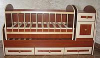 Детская кровать трансформер МДФ Колисковий Світ