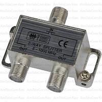Сплиттер (Splitter) ТВ, 2-way 5-1000MHZ, корпус металлический