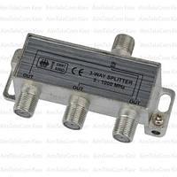 Сплиттер (Splitter) ТВ, 3-way 5-1000MHZ, корпус металлический