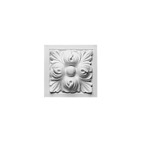 Блок Orac Luxxus,D210, 9.6x9.6x3.5см, лепной декор из полиуретана